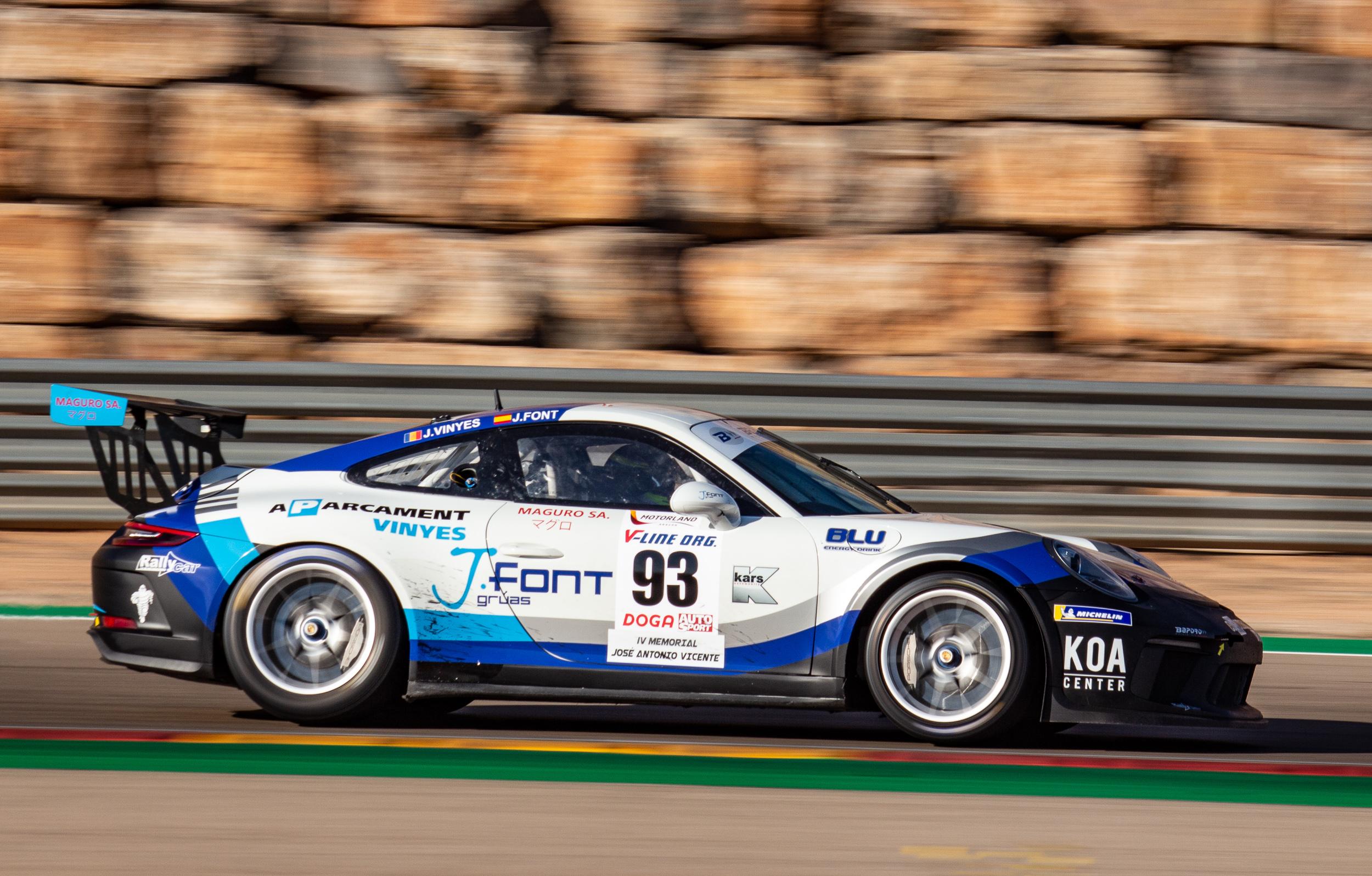 Porsche 911 GT3 Cup de Baporo en los 500km de Alcañiz 2019